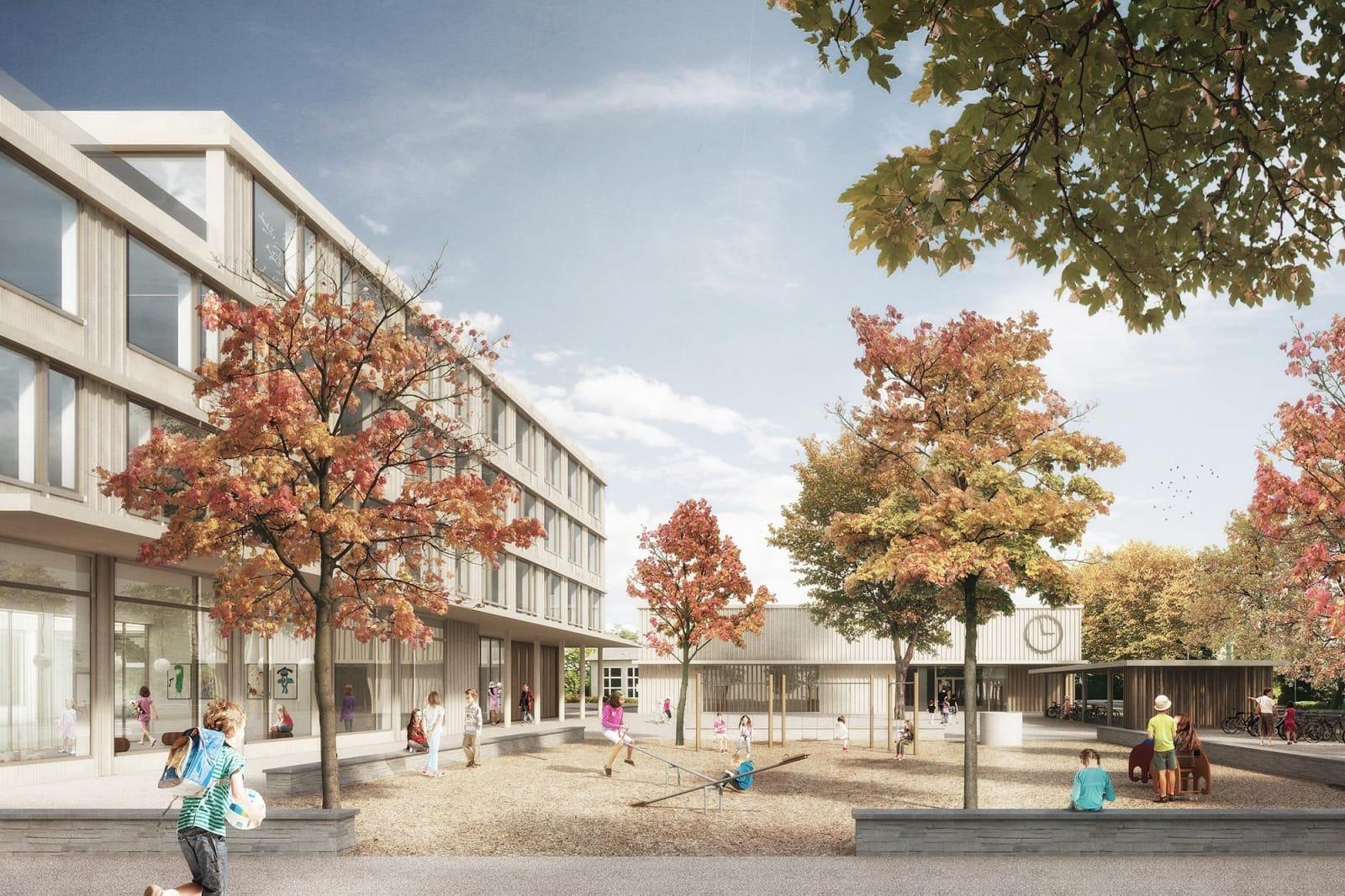 Neubau Schulhaus Krämeracker Uster - Masswerk