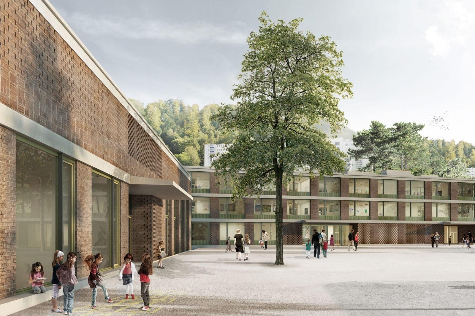 Neubau Schulhaus Staffeln Luzern - Masswerk